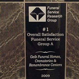 Number 1 Overall Satisfaction Funeral Service