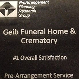 Number 1 Overall Satisfaction - Pre-Arrangement Service