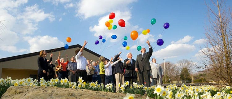 Balloon Releases are one example of Personalized Memorial Services